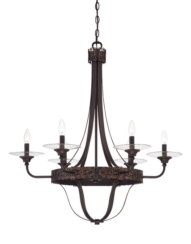 Jeremiah Lighting 36326 Amsden Single Tier 6 Light Candle Style