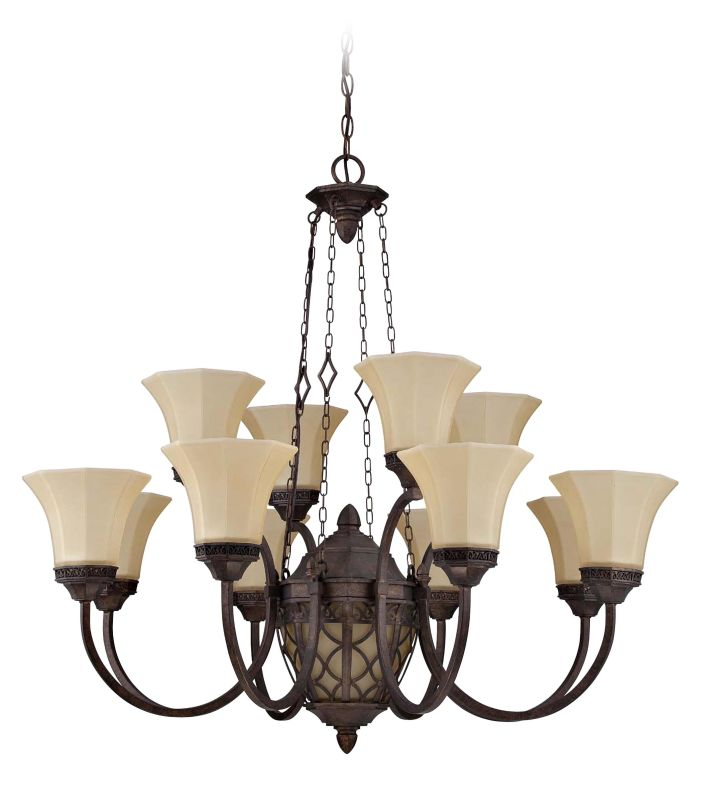 Jeremiah Lighting 36412 Evangeline Two Tier 12 Light Chandelier - 36 Sale $369.00 ITEM: bci2404217 ID#:36412-PR UPC: 647881124540 :
