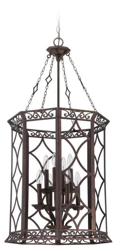 Jeremiah Lighting 36438 Evangeline 8 Light Foyer Indoor Pendant -