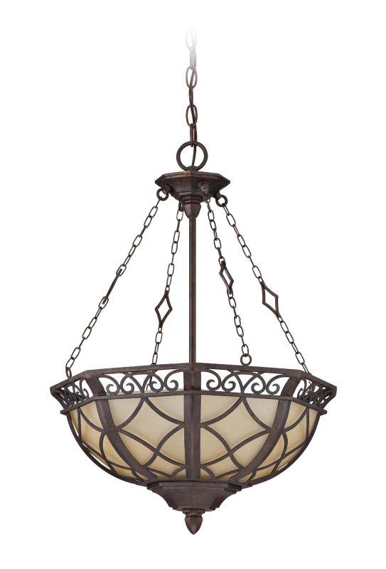 Jeremiah Lighting 36443 Evangeline 3 Light Bowl Shaped Indoor Pendant