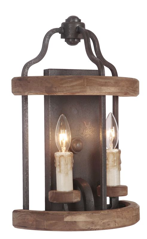 Jeremiah Lighting 36502 Ashwood 2 Light Indoor Wall Sconce - 5.89