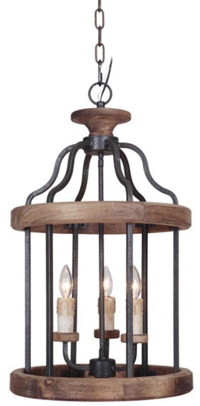 Jeremiah Lighting 36533 Ashwood 3 Light Foyer Indoor Pendant - 15.99