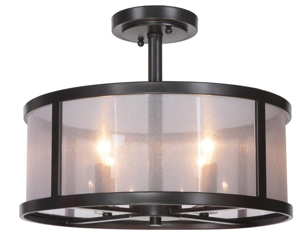 black danbury 4 light semi flush ceiling fixture