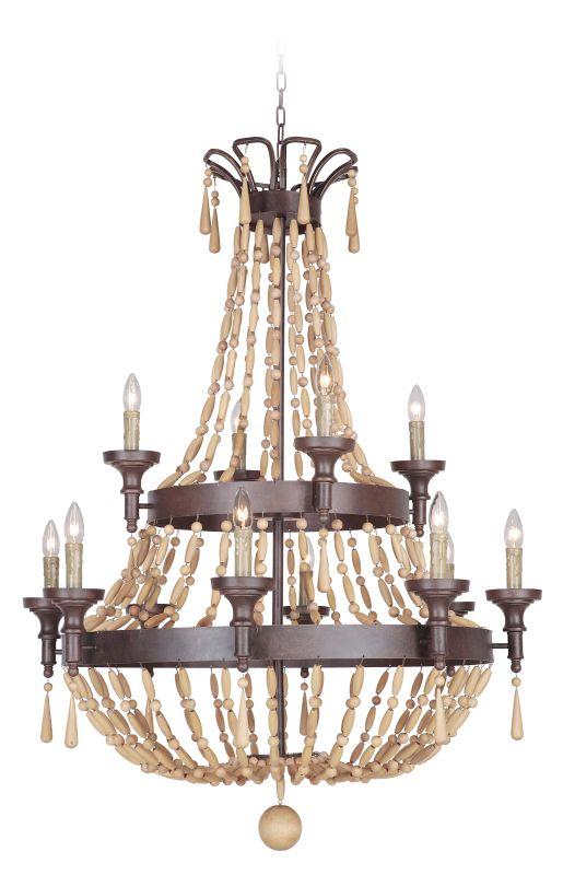 Jeremiah Lighting 36812 Berkshire Two Tier 12 Light Empire Chandelier