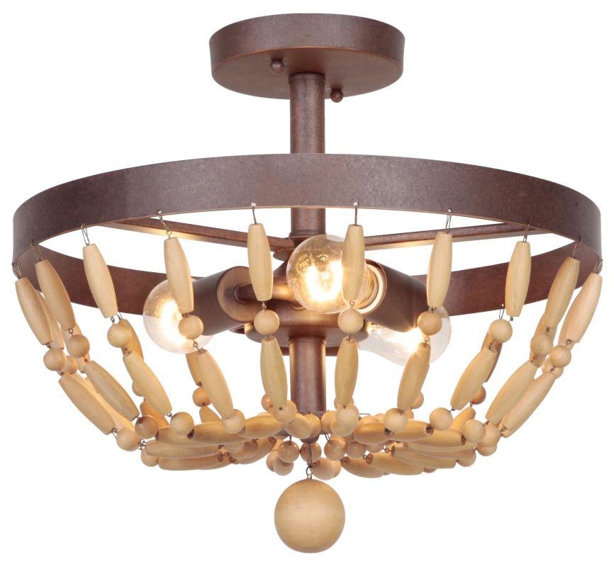 Jeremiah Lighting 36853 Berkshire 3 Light Semi-Flush Ceiling Fixture