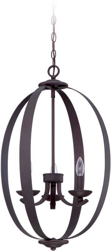 Jeremiah Lighting 37033 Ensley 3 Light Candle Style Pendant - 18