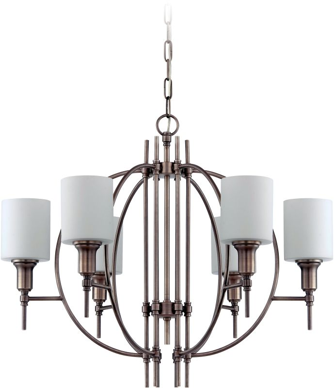 Jeremiah Lighting 37226 Meridian 6 Light Chandelier - 28 Inches Wide