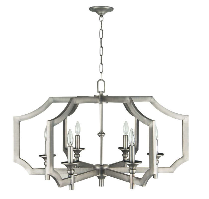 Jeremiah Lighting 37316 Lisbon 6 Light Candle Style Chandelier - 33.86