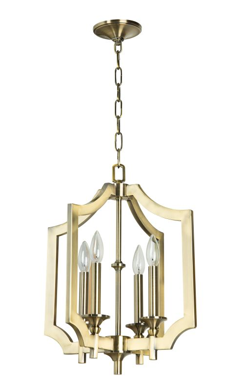 Jeremiah Lighting 37344 Lisbon 4 Light Candle Style Chandelier - 20.87