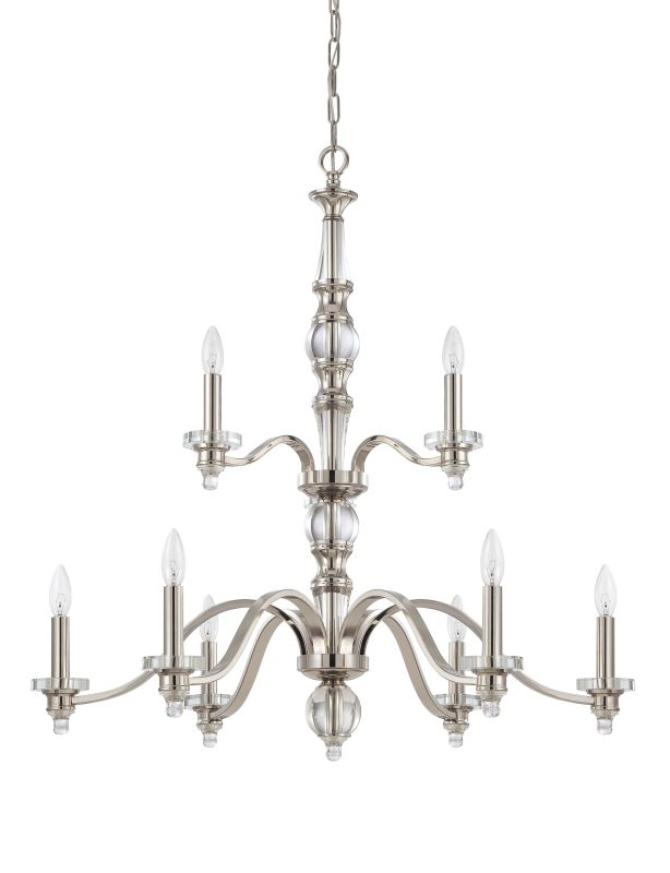 Jeremiah Lighting 37429 Laurent Two Tier 9 Light Candle Style