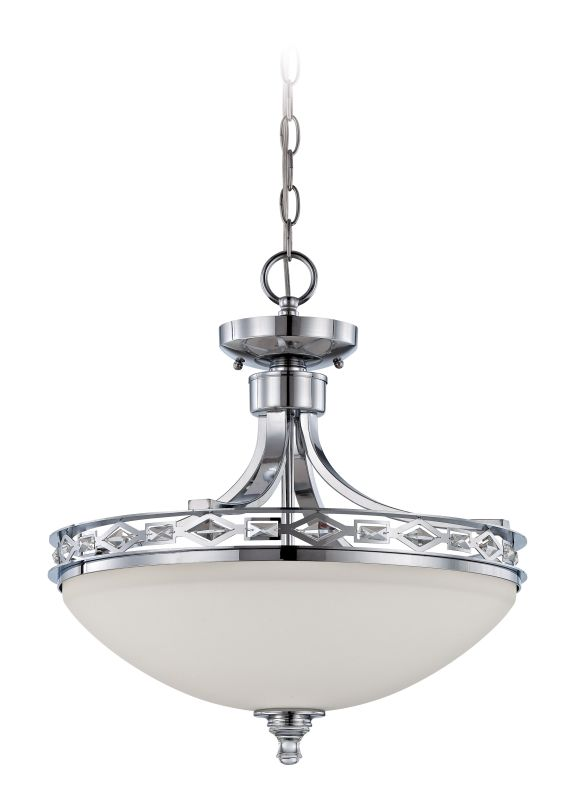 Jeremiah Lighting 37553 Saratoga 3 Light Bowl Shaped Indoor Pendant -