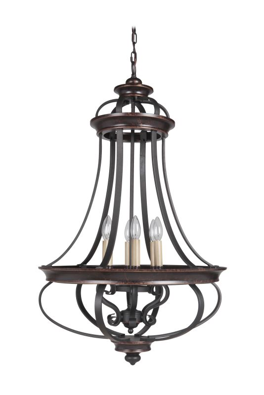 Jeremiah Lighting 38736 Stafford 6 Light Candle Style Chandelier - 23