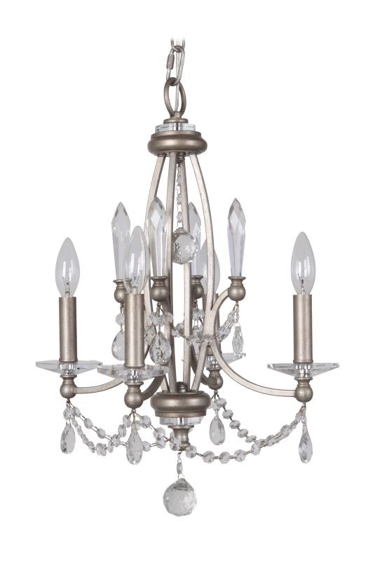 Jeremiah Lighting 39224 Victoria 4 Light Candle Style Chandelier - 15 Sale $154.00 ITEM: bci2679658 ID#:39224-AO UPC: 647881138103 :