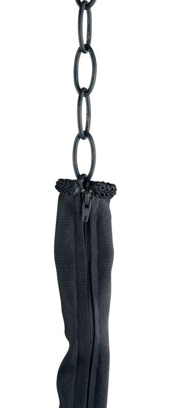 Jeremiah Lighting CC29 6 Foot Black Zipper Cord Cover Black Accessory