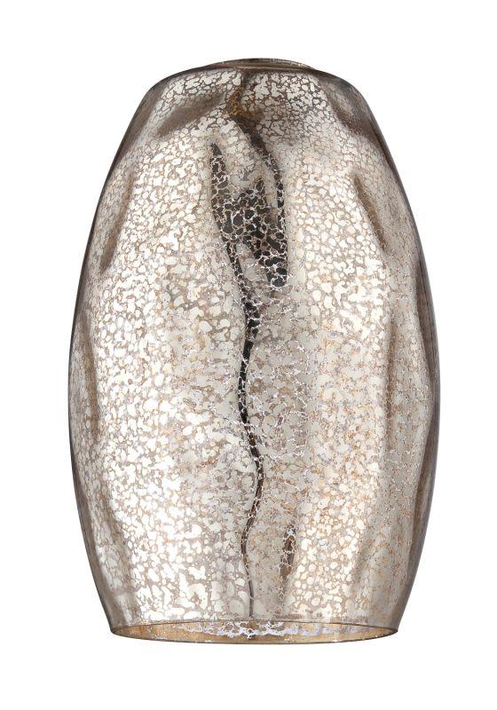Jeremiah Lighting N885hm Hammered Mercury Mini Pendant