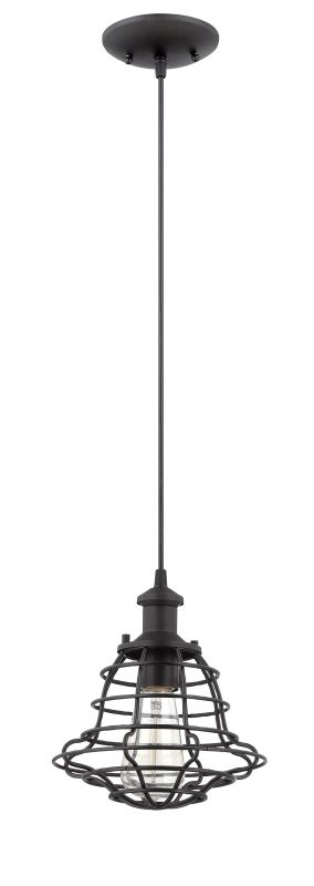 Jeremiah Lighting P3201 1 Light Mini Pendant with Heavy Wire Shade