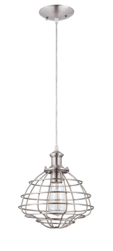 Jeremiah Lighting P3401 1 Light Mini Pendant with Heavy Wire Shade Sale $70.00 ITEM: bci2404389 ID#:P340BNK1 UPC: 647881127190 :