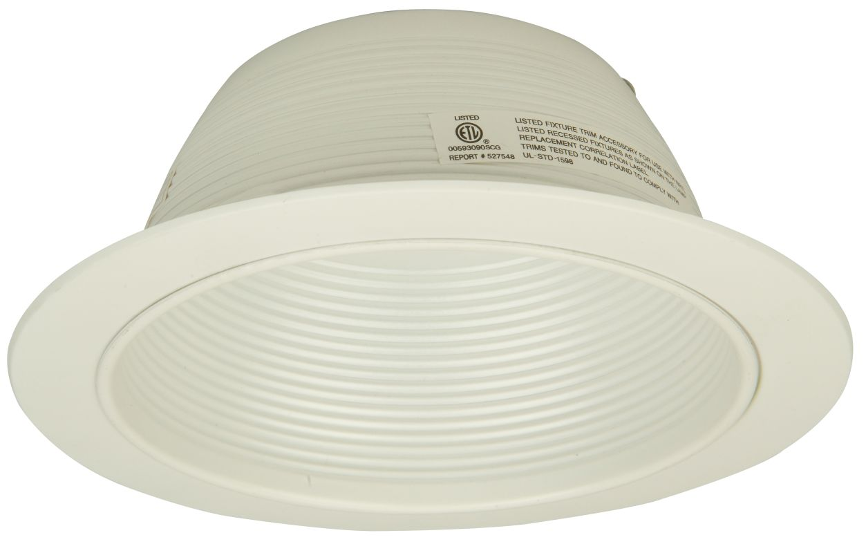"Jeremiah Lighting T-504WW 8"" Diameter Wide Ring White Aluminum Baffle"