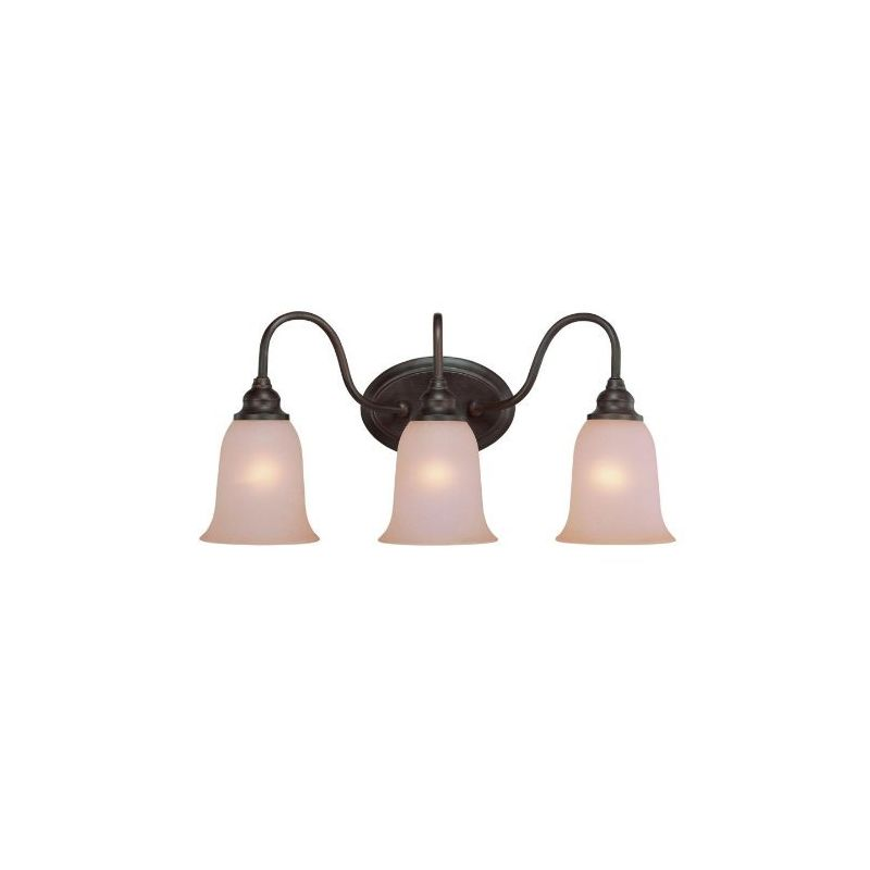 """Jeremiah Lighting 26303 Linden Lane 3 Light Bathroom Vanity Light - 23 Sale $99.00 ITEM: bci1554441 ID#:26303-OB UPC: 80629804104 Product Features: Finish: Satin Nickel , Light Direction: Down Lighting , Width: 23"""" , Height: 11"""" , Bulb Type: Compact Fluorescent, Incandescent , Number of Bulbs: 3 , Fully covered under Jeremiah Lighting warranty , Location Rating: Indoor Use :"""