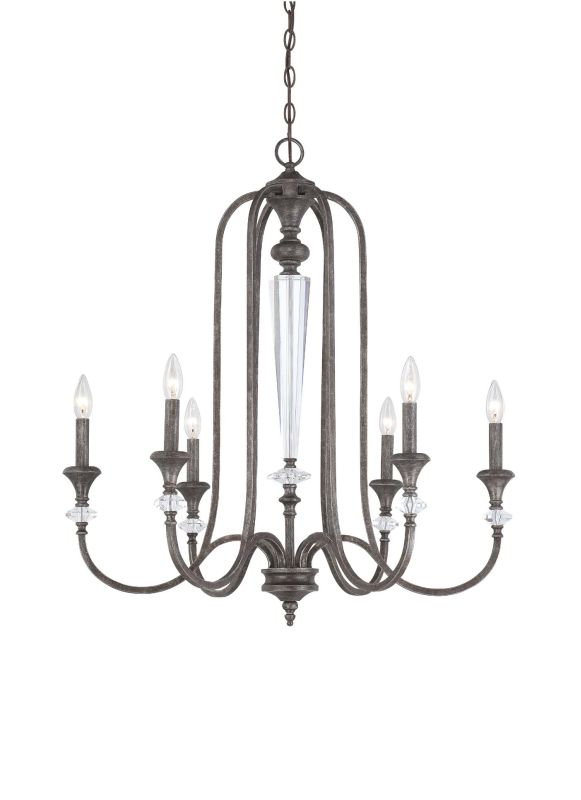 Jeremiah Lighting 26726 Boulevard Single Tier 6 Light Candle Style