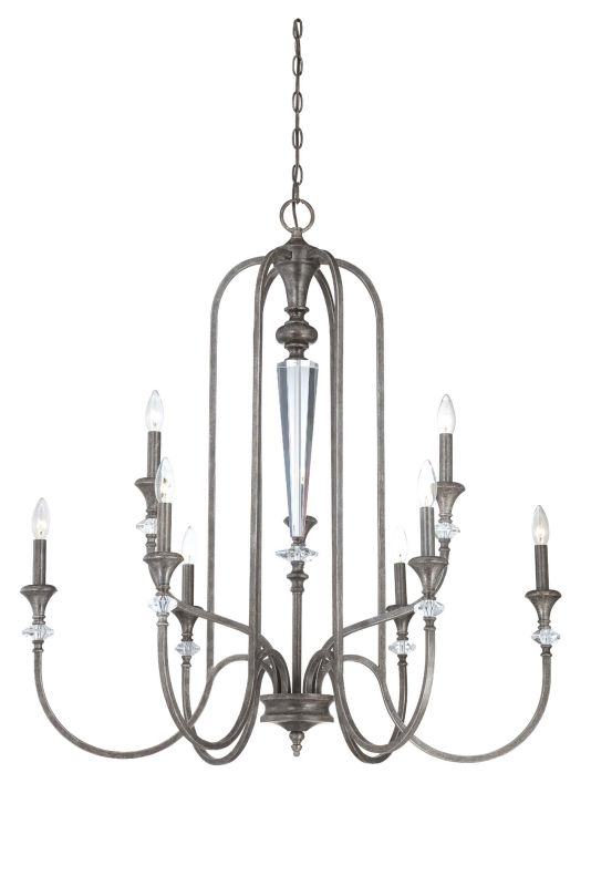 Jeremiah Lighting 26729 Boulevard Two Tier 9 Light Candle Style