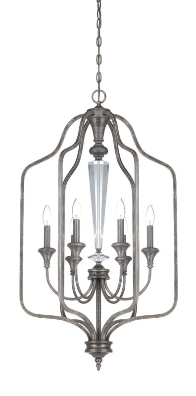 Jeremiah Lighting 26736 Boulevard Single Tier 6 Light Cage Chandelier