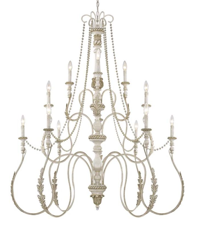 Jeremiah Lighting 27312 Zoe Three Tier 12 Light Candle Style