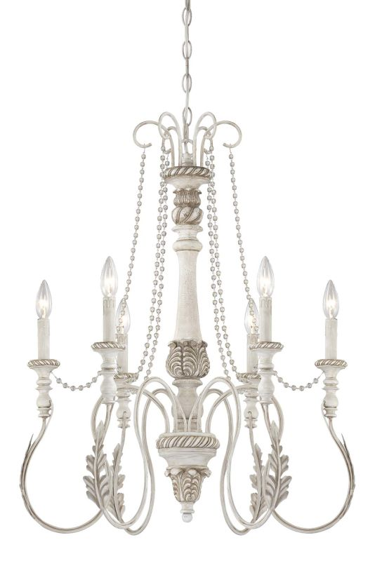 Jeremiah Lighting 27326 Zoe Single Tier 6 Light Candle Style