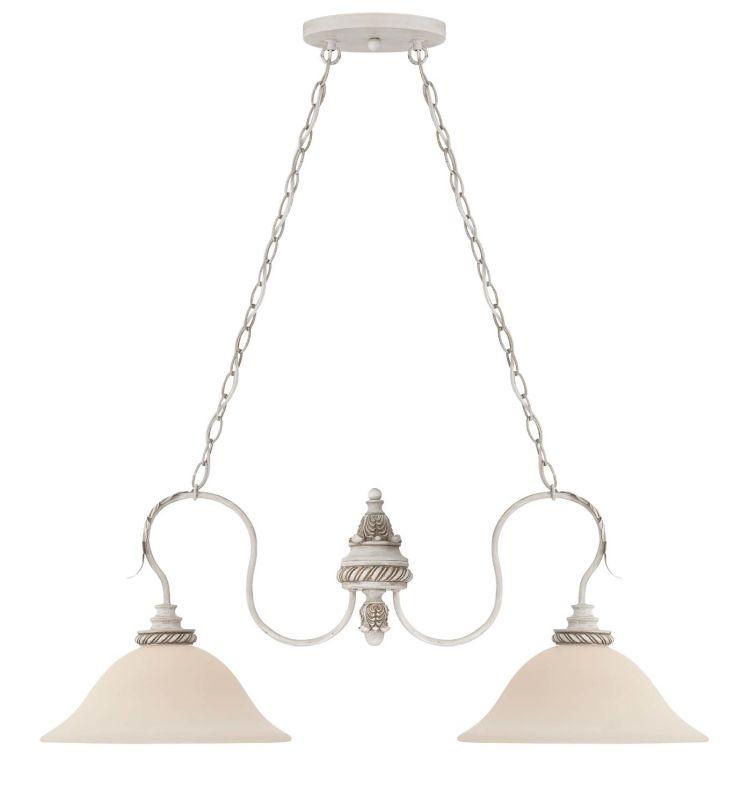 Jeremiah Lighting 27332 Zoe Single Tier 2 Light Linear Chandelier - 36
