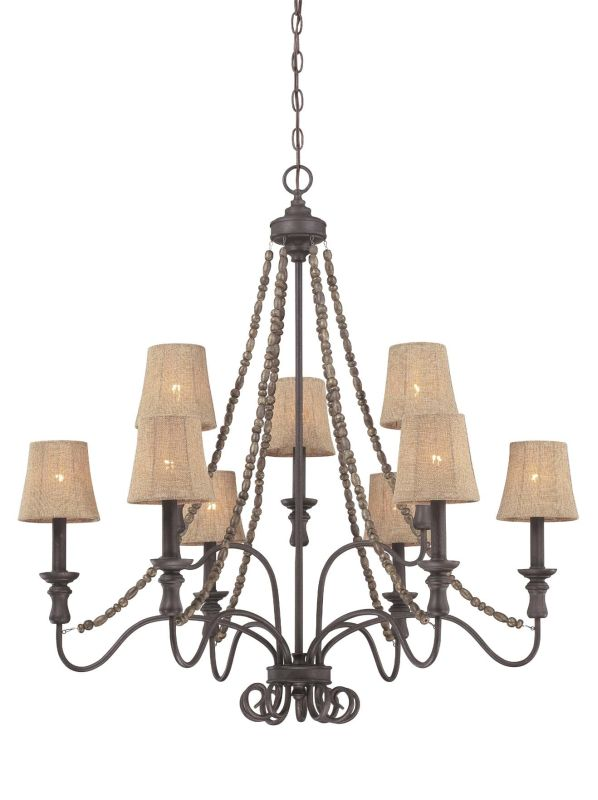 Jeremiah Lighting 27529 Quincy Two Tier 9 Light Candle Style Sale $292.00 ITEM: bci1696824 ID#:27529-SI UPC: 80629805965 :