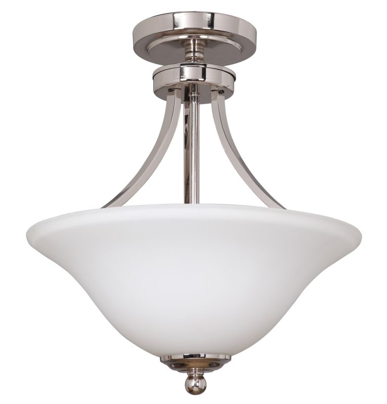 Jeremiah Lighting 9816-2 2 Light Up Light Semi-Flush Ceiling Fixture