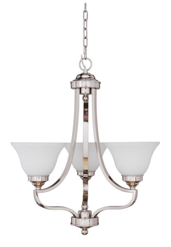Jeremiah Lighting 9822-3-LQ Portia Single Tier 3 Light Chandelier - 22
