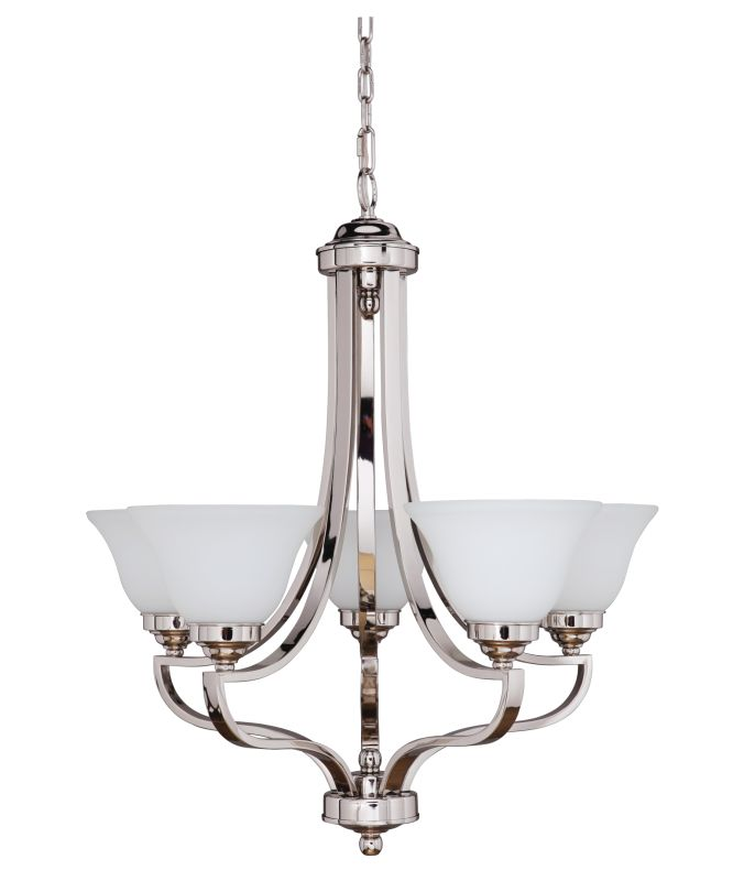 Jeremiah Lighting 9827-5 Portia Single Tier 5 Light Chandelier - 27