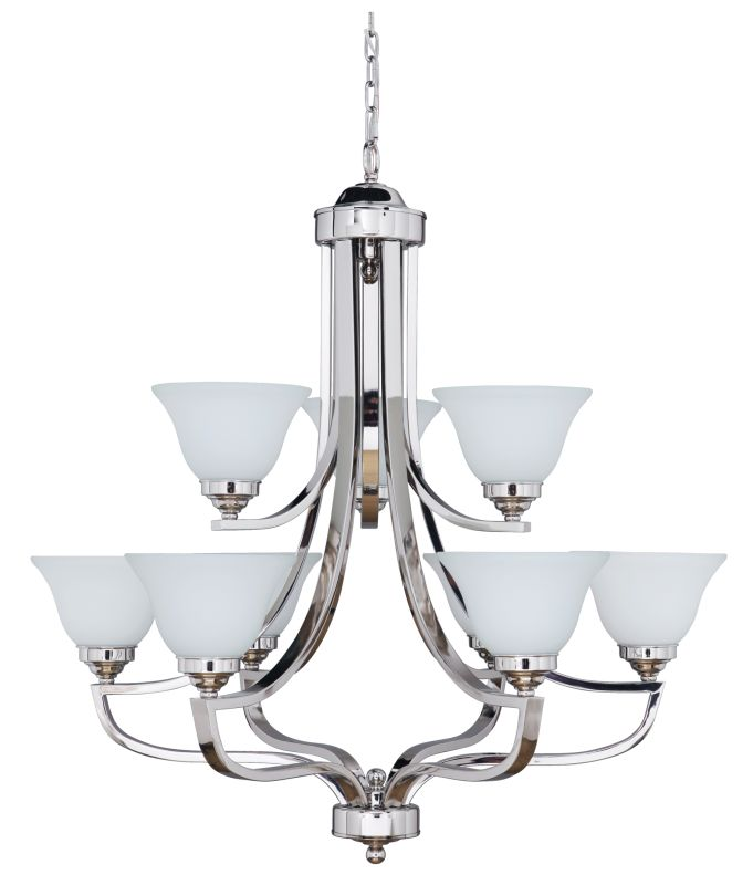 Jeremiah Lighting 9835-9 Portia Two Tier 9 Light Chandelier - 34.2