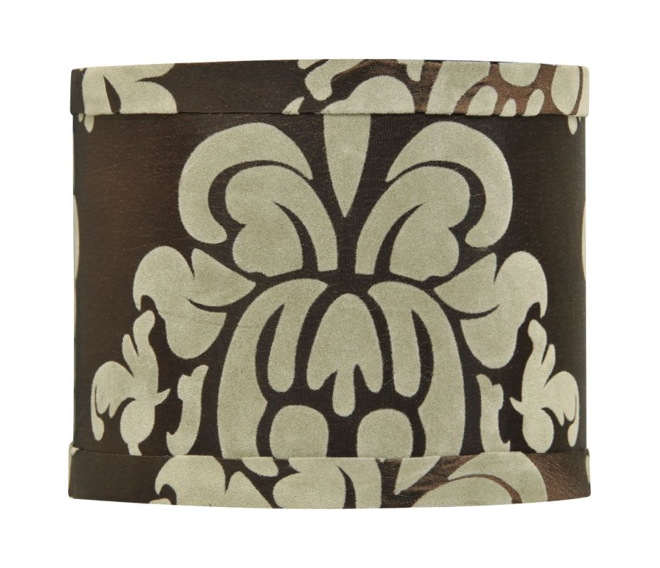 Jeremiah Lighting SH-MINIDRUM 5.5 Inch Mini Drum Shade Brown Damask