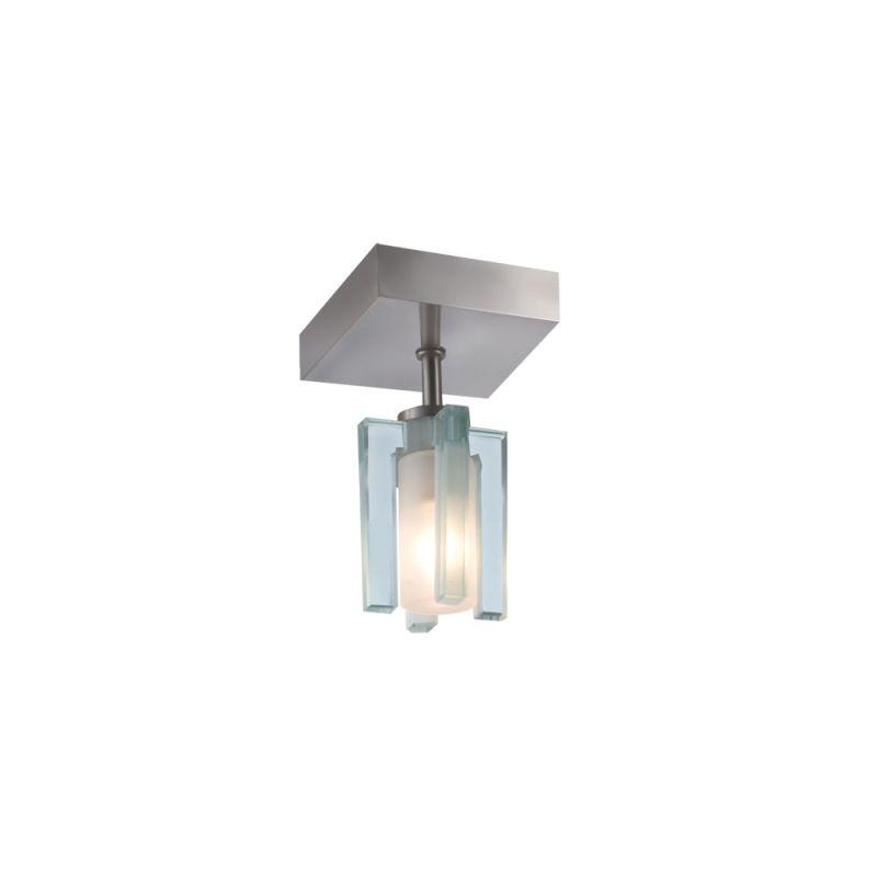 Jesco Lighting CM301-1S Akina 1 Light Semi-Flush Ceiling Fixture Satin
