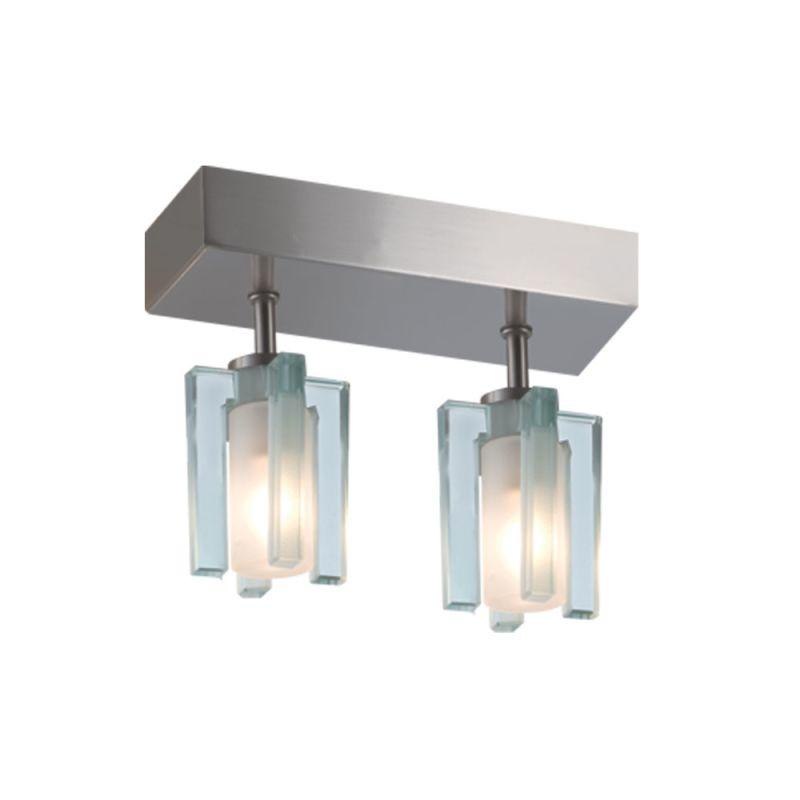 Jesco Lighting CM301-2R Akina 2 Light Semi-Flush Ceiling Fixture Satin