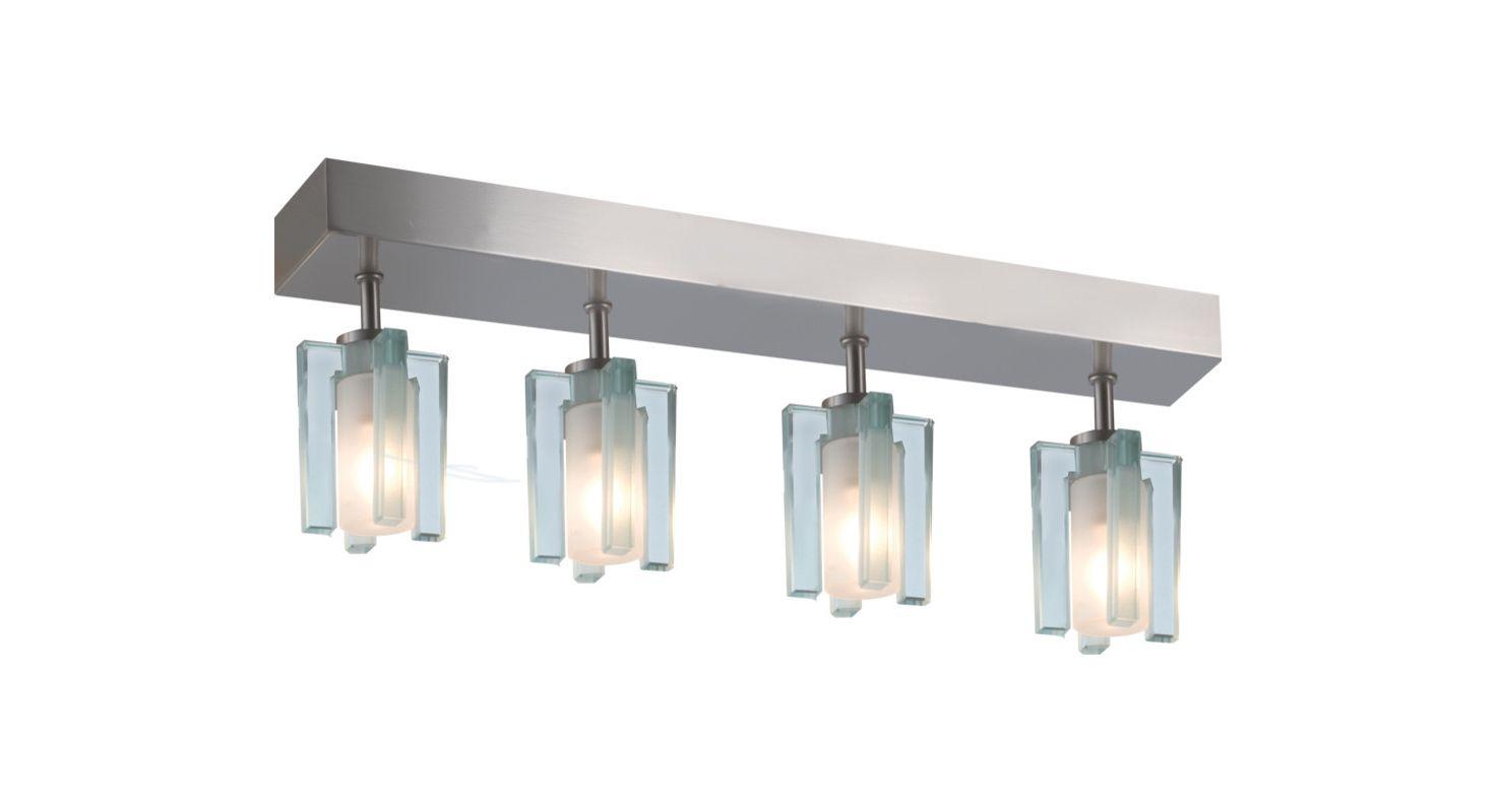 Jesco Lighting CM301-4R Akina 4 Light Semi-Flush Ceiling Fixture Satin
