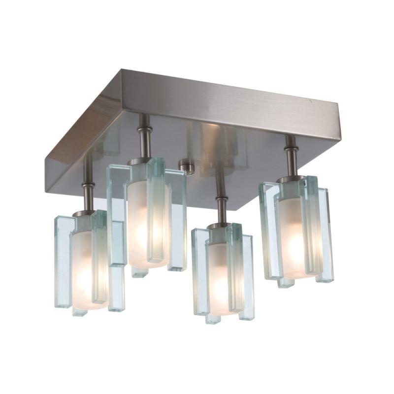 Jesco Lighting CM301-4S Akina 4 Light Semi-Flush Ceiling Fixture Satin