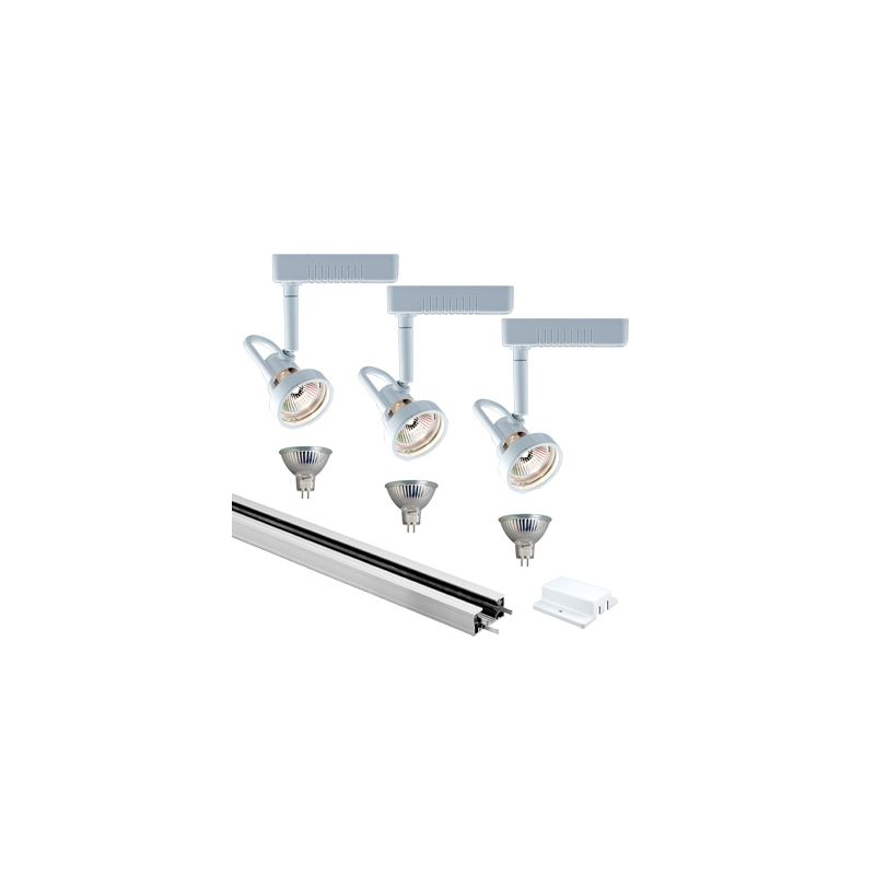 Jesco Lighting KIT-3HLV143WHWH Low Voltage 3 Light Track Kit White