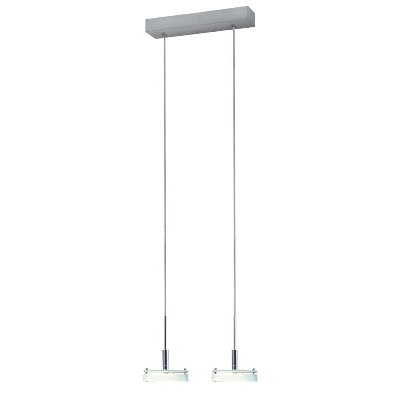 Jesco Lighting PD302-2 Discus 2 Light Pendant Satin Nickel / Glass Sale $115.56 ITEM: bci2619386 ID#:PD302-2GL UPC: 848087003091 :