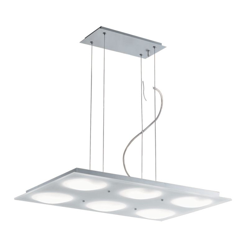 Jesco Lighting PD617-6R Lumidisque 6 Light Pendant Satin Aluminum Sale $423.31 ITEM: bci2619402 ID#:PD617-6R UPC: 848087002155 :