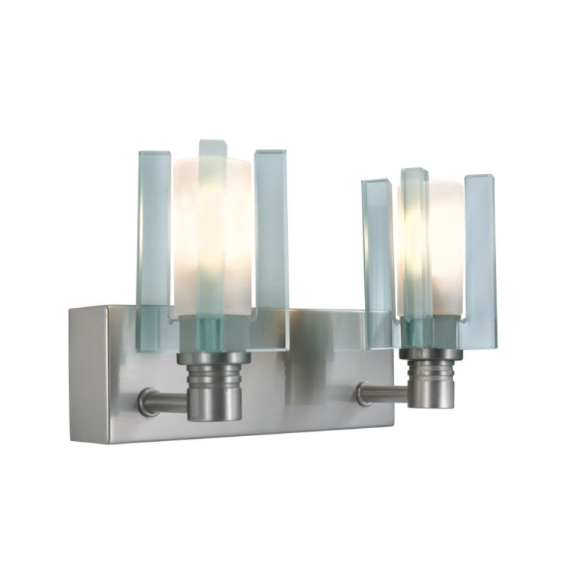 Jesco Lighting WS301-2 Akina 2 Light Wall Sconce Satin Nickel Indoor Sale $88.20 ITEM: bci2619441 ID#:WS301-2 UPC: 848087064306 :