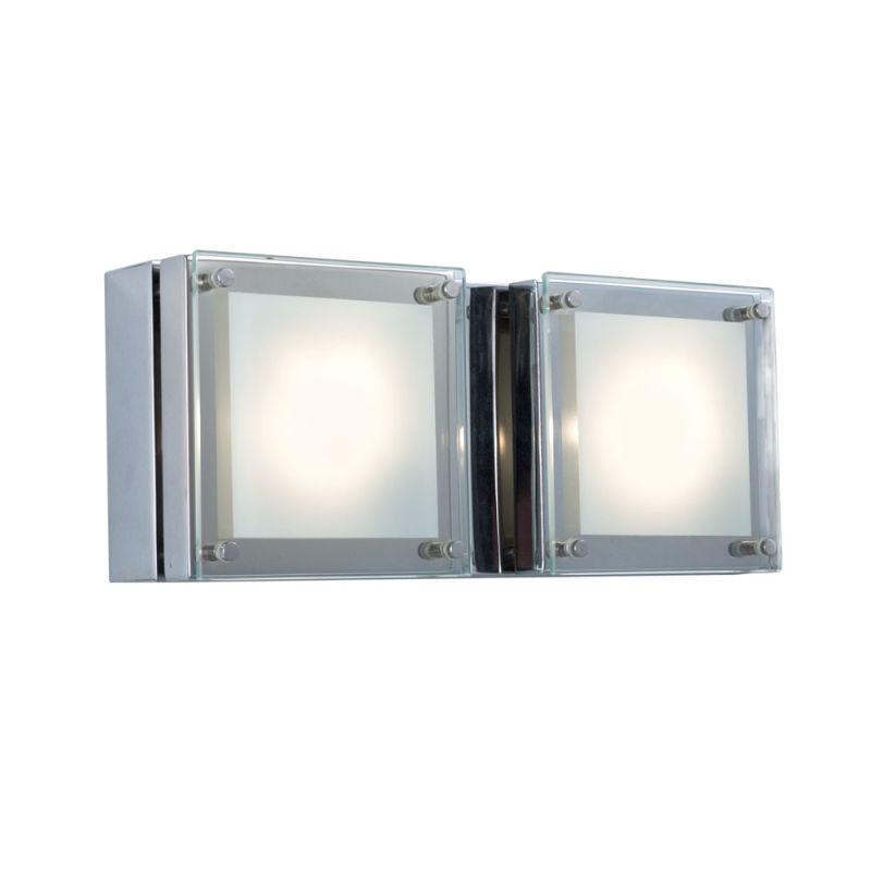 Jesco Lighting WS306H-2 Quattro 2 Light Wall Sconce Chrome / Chrome