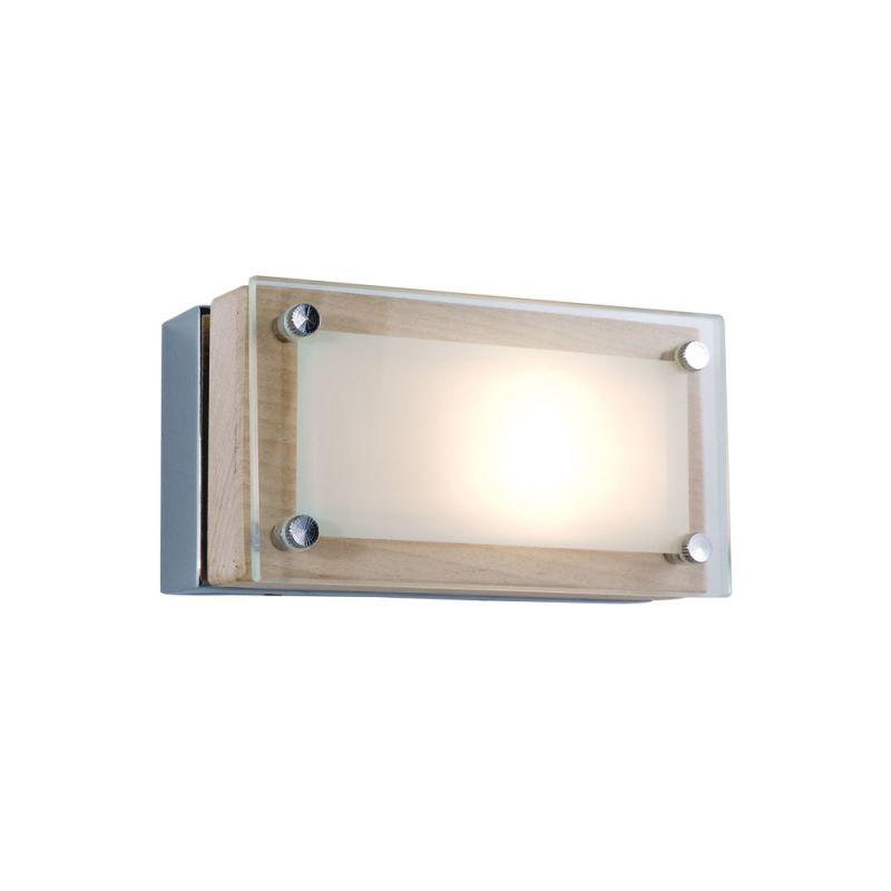 Jesco Lighting WS307H-1 Bric 1 Light Wall Sconce Chrome / Birch Indoor