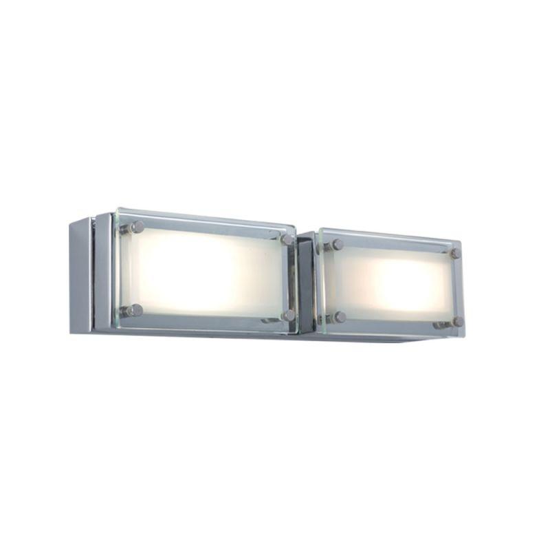 Jesco Lighting WS307H-2 Bric 2 Light Wall Sconce Chrome / Chrome