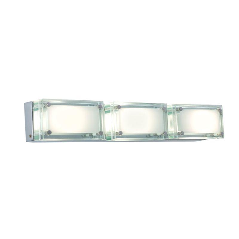 Jesco Lighting WS307H-3 Bric 3 Light Wall Sconce Chrome / Glass Indoor