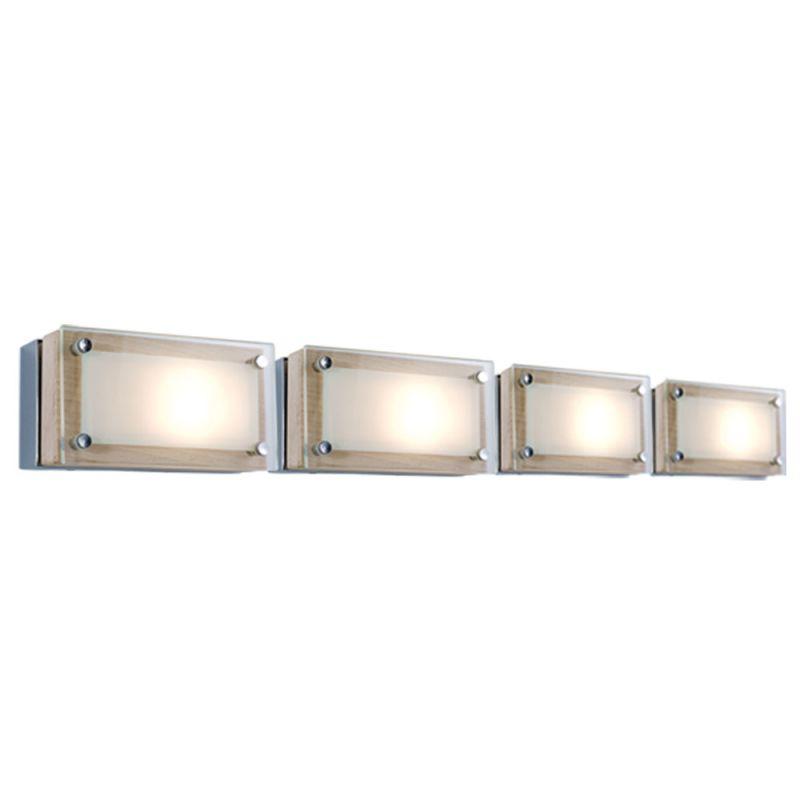 Jesco Lighting WS307H-4 Bric 4 Light Wall Sconce Chrome / Birch Indoor