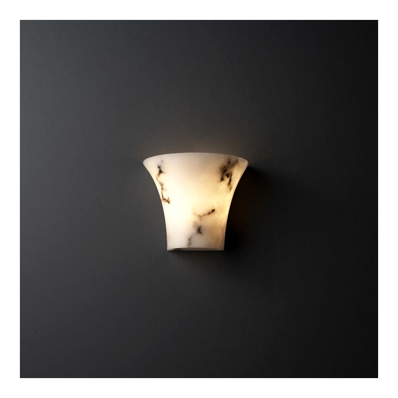 Justice Design Group FAL-8810 Faux Alabaster Alabaster Stone / Glass Wall Washer Sconce from the ...