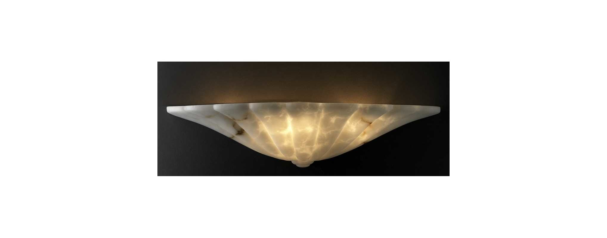 Justice Design Group FAL-1495 Faux Alabaster Alabaster Stone / Glass Wall Washer Sconce from the ...